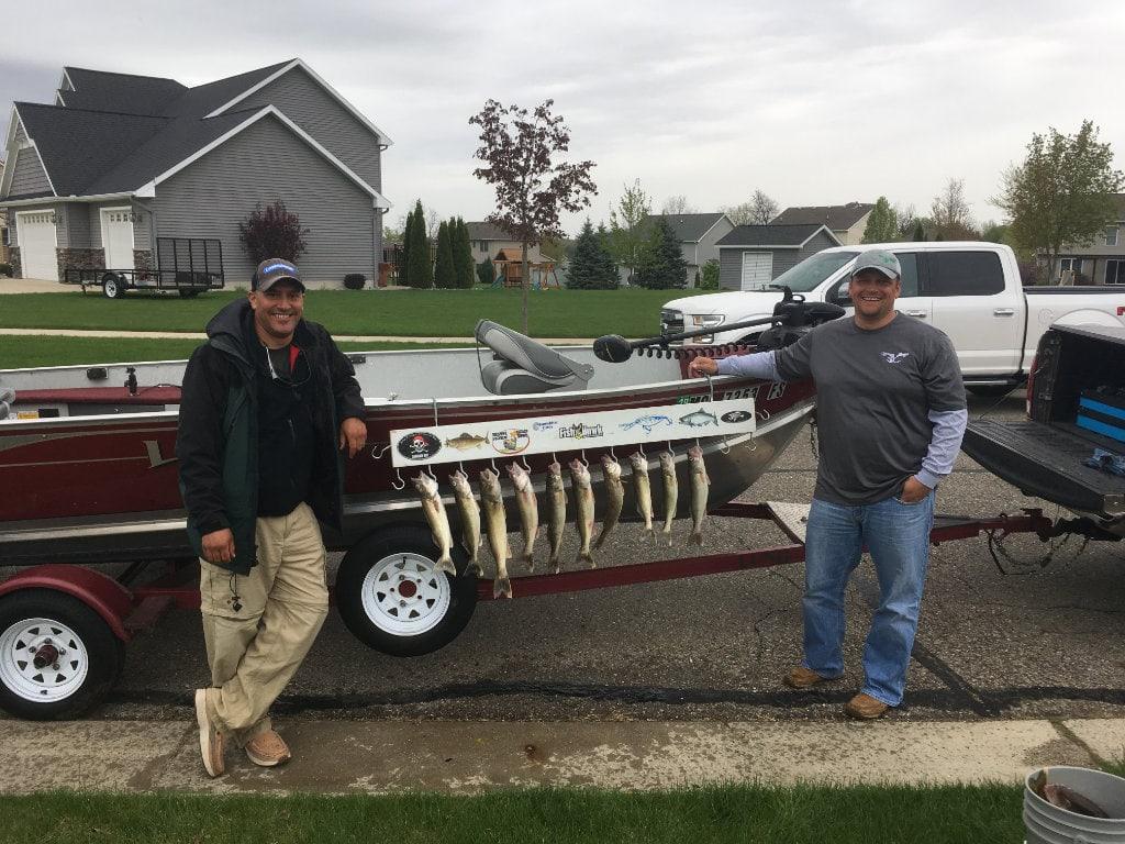 Fishing camp winning team