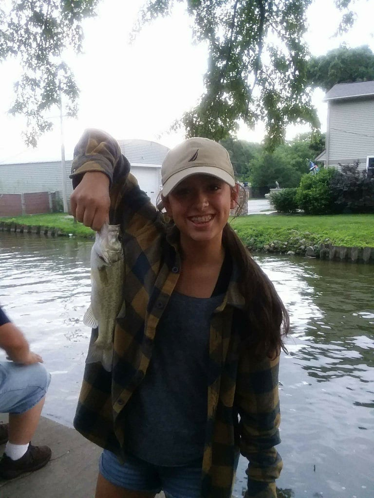bass caught on minnow bait