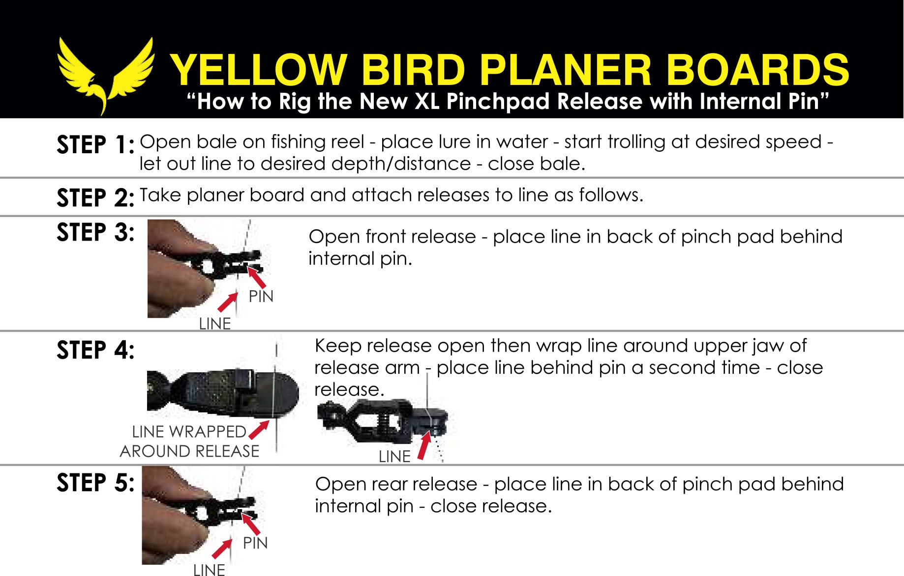 How To Use A Planer Board - Yellow Bird Fishing Products